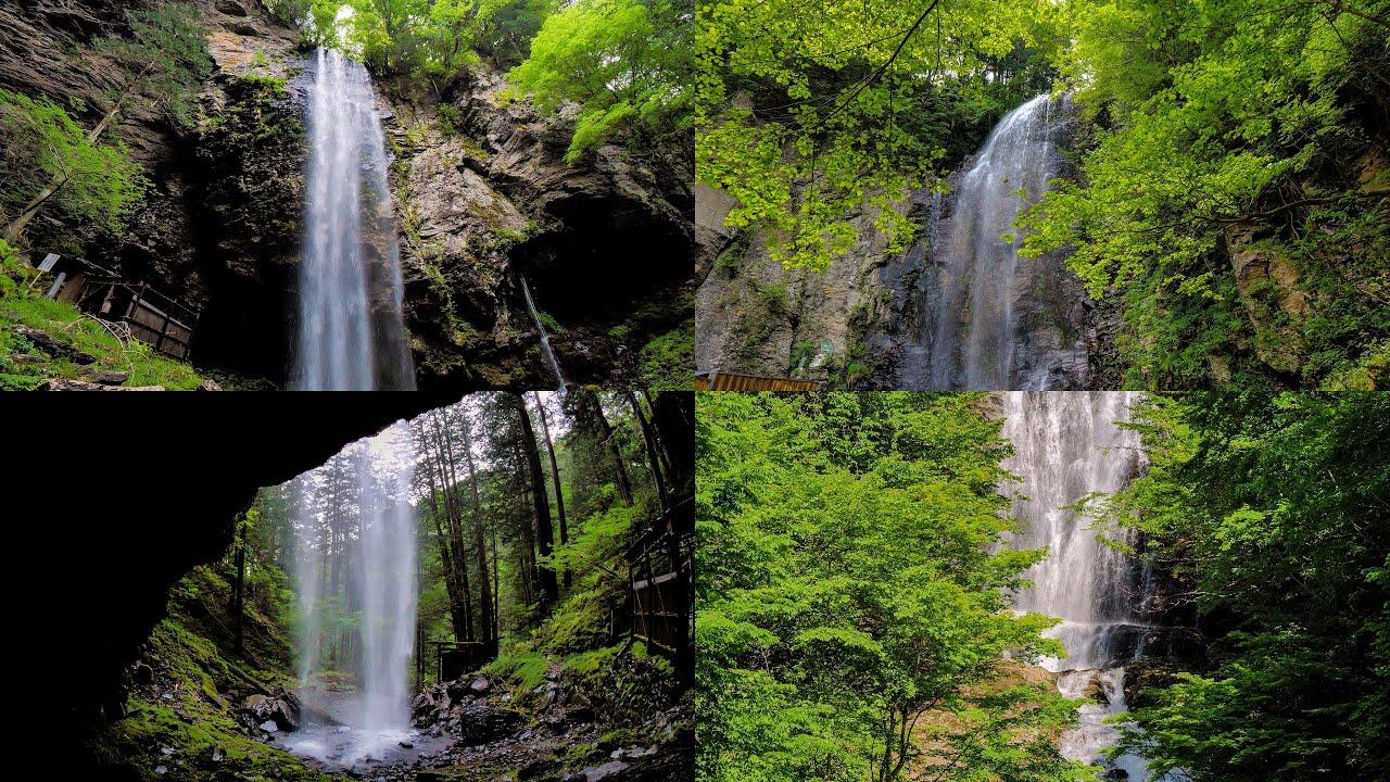 [4K] 木曽の「新滝」「清滝」「唐沢の滝」:自然音 Shin-Taki,Kiyo-taki,Karasawa-no-taki,Waterfalls in Kiso,Nagano,JAPAN