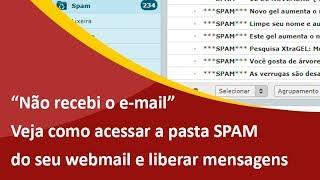 Não recebi o e-mail, o que fazer? Aprenda Como Acessar a Pasta SPAM no Webmail cPanel