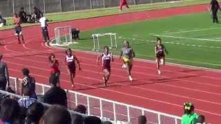 caddo parish relays 100m heat 1