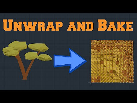 How To Unwrap And Bake Textures In Blender 2.8?