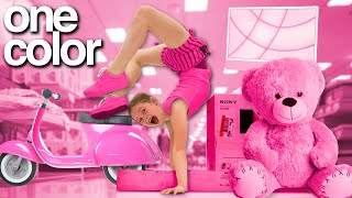 BUYING Everything in ONE COLOR for my Daughter *NO BUDGET 😱*