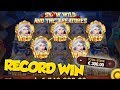 RECORD WIN?! €300 bet JACKPOT on Snow Wild Highroll - REPLAY - AboutSlots community Winner