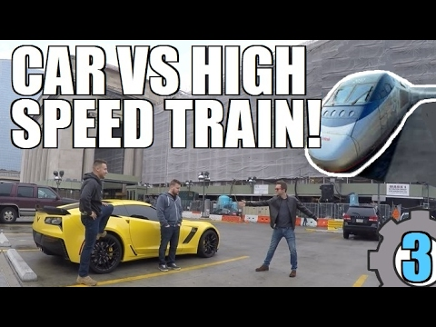 CORVETTE vs HIGH SPEED TRAIN! GRAND TOUR Style!