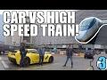 CORVETTE vs HIGH SPEED TRAIN! GRAND TOUR Style!