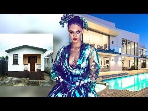 10 Singers Houses [ Then & Now ] Justin Bieber , Taylor Swift , Rihanna ...etc