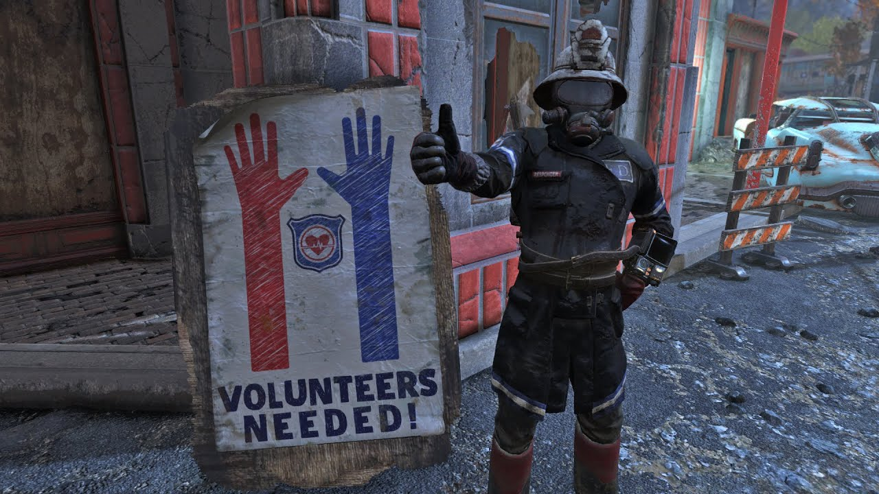 Fallout 76 Apparel Comparison - Fire Breather Uniform, Fireman Helmet,  Responder Fireman Uniform
