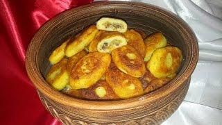 Картофельные зразы с грибами. Пирожки с грибами (potato cakes)