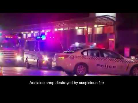 Adelaide shop destroyed by suspicious fire