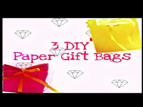 How to make paper bag DIY - 3 SUPER EASY GIFT BBAGS BY Agile Fingers