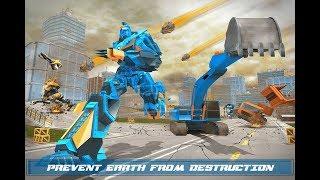 Excavator Robot Game -Transforming Robot Simulator (By Mizo Studio Inc) Android Gameplay HD