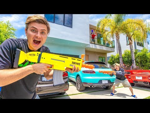 $10,000 NERF BATTLE!! ($4 MILLION MANSION)
