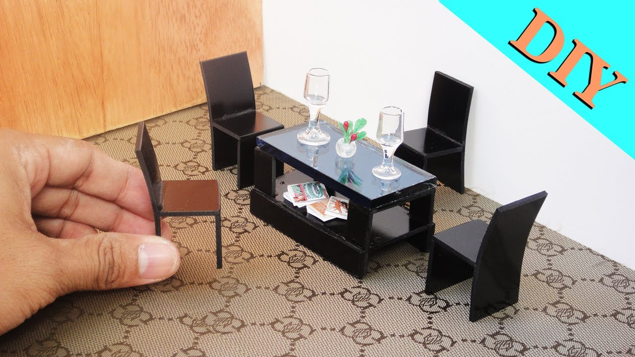 How To Make Realistic Miniature Coffee Table & Chair Sets ...