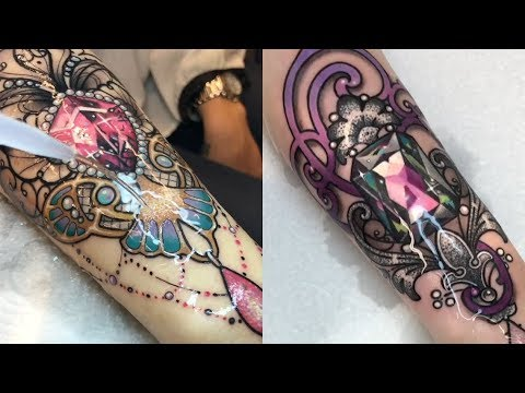 These Crystal Tattoos Are Absolutely Beautiful
