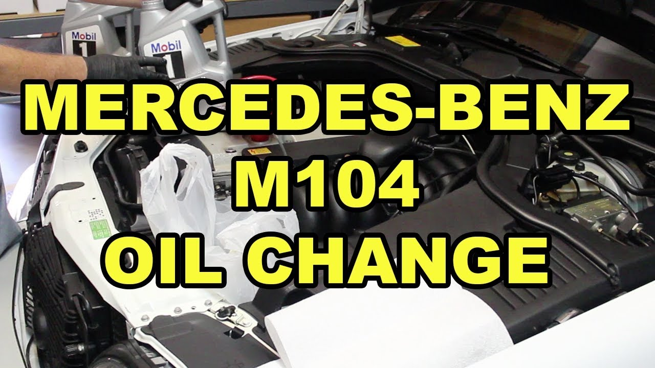 Mercedes-Benz M104 (S320) Oil Change