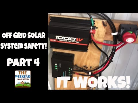 Off grid Mini-Solar Panel Systems for Utility Buildings ~ Step 4 - Safety and Fixes!