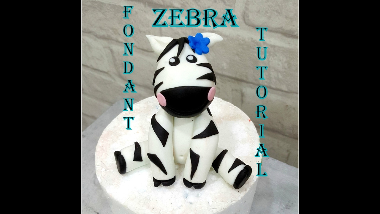 How to make fondant feathers youtube - Diy How To Make A Fondant Zebra Topper Tutorial