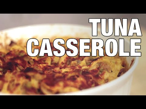 TUNA CASSEROLE With Cream Of Mushroom Soup