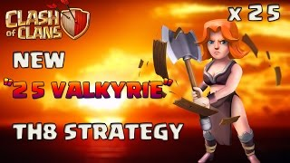 MASS VALKYRIE | TH8 NEW OP WAR ATTACK STRATEGY | VALKYRIE EVENT | CLASH OF CLANS