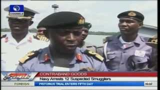 Nigerian Navy Arrests 12 Suspects With Contraband Goods