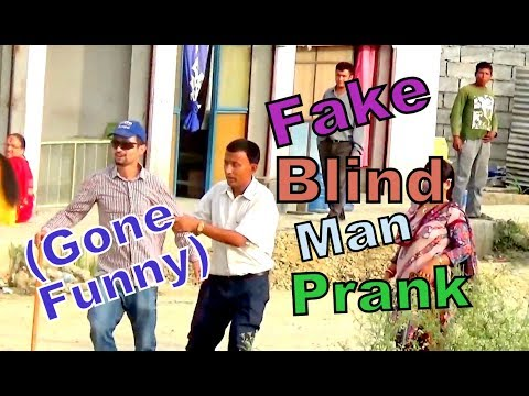 Nepali Prank - Blind man Experiment (Gone funny )