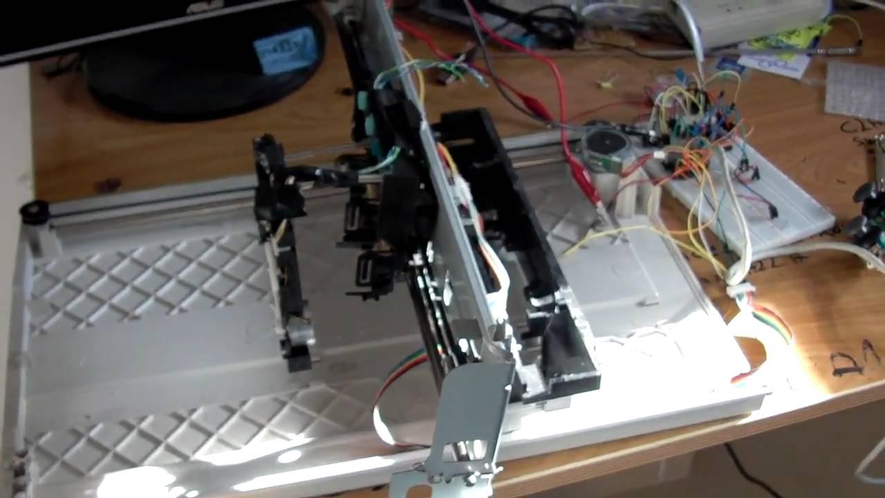 Cnc Manual Usando Escaner E Impresora Youtube