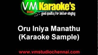 Oru Iniya Manathu Tamil Karaoke
