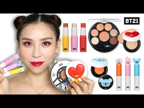 Trying BTS Makeup (BT21 X VT Cosmetics) 馃憤 or 馃憥