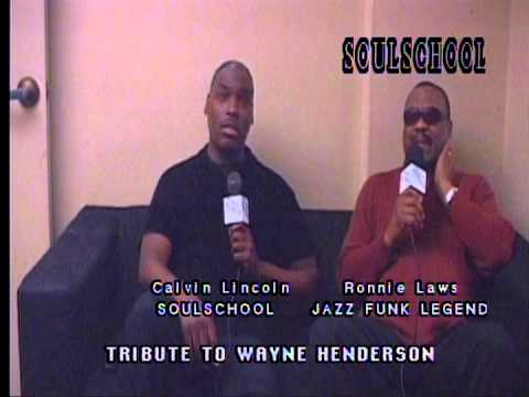 Soul School Television - Ronnie Laws Tribute to the late Wayne Henderson - Taped 2-4-12
