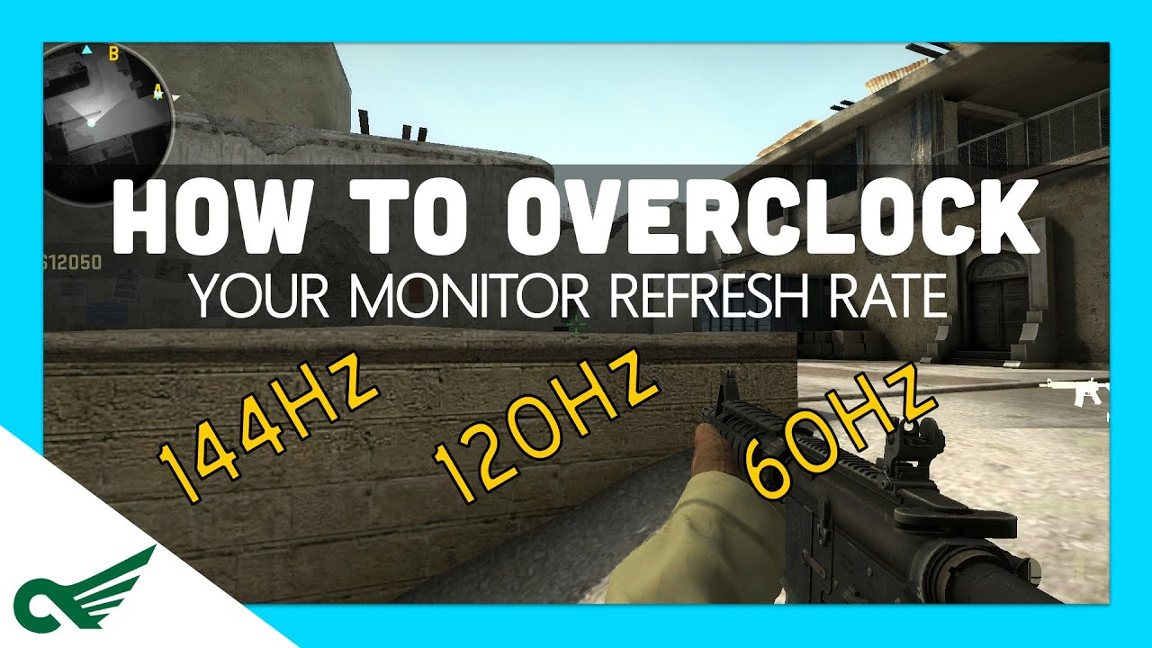 How to overclock your monitor (Increase your refresh rate! Hz) GOOD ...