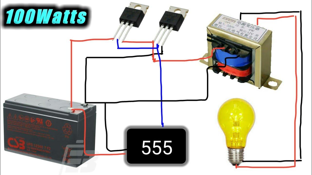 12v To 220v 100w Inverter Youtube Transistor Circuit