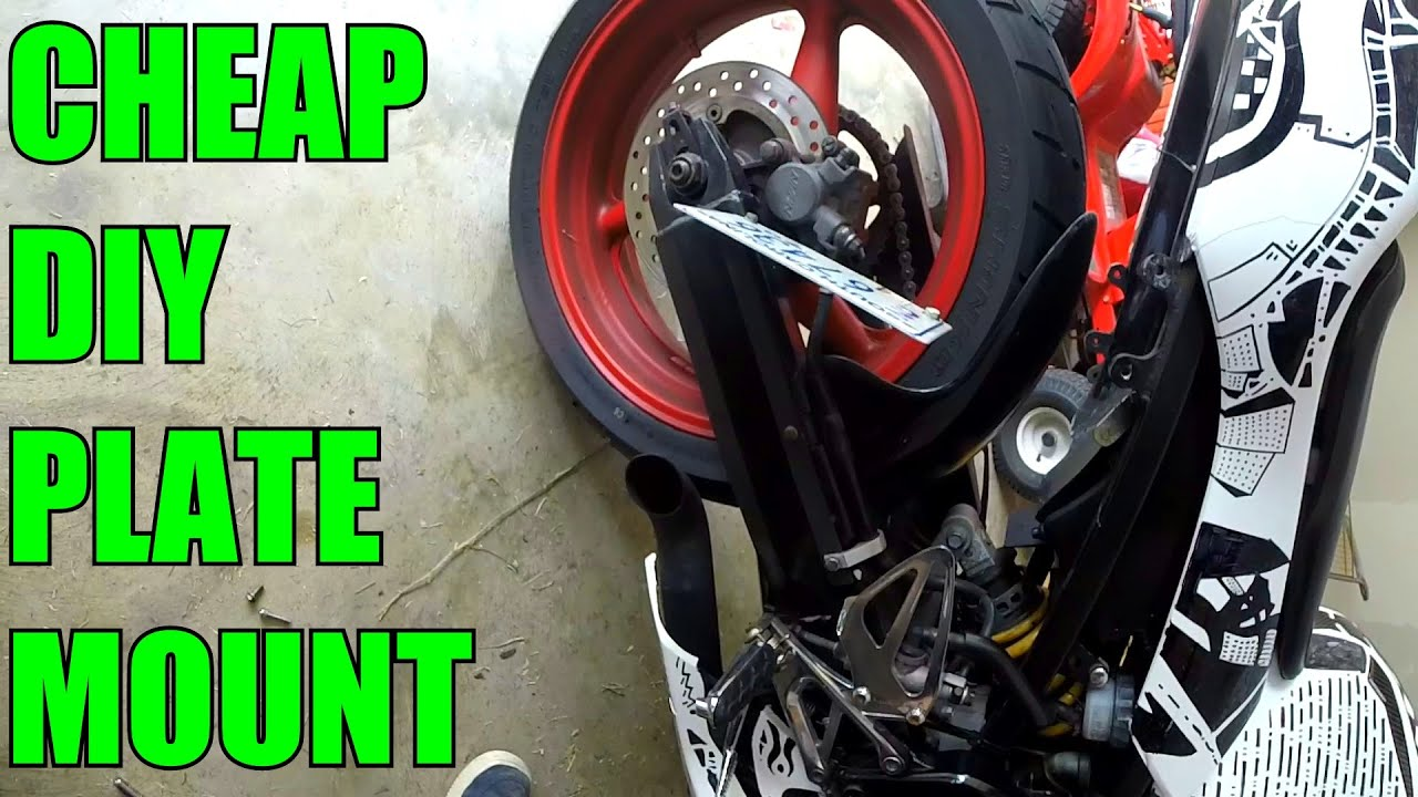 diy home made motorcycle plate mount cbr 600 youtube - Motorcycle Licence Plate Frame