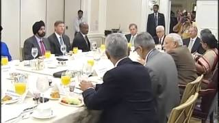 PM Modi holds breakfast meeting with CEOs in New York