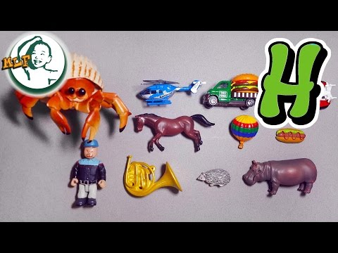 Words that start with H | Learn alphabet H with common toys!