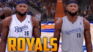 c7dc9e41f NBA 2K16 NBA x MLB Kansas City Royals Jersey   Court Tutorial