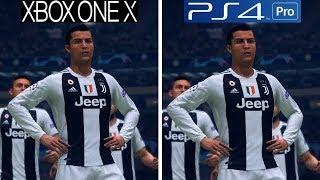 FIFA 19   Xbox One X VS PS4 Pro   Graphics Comparison