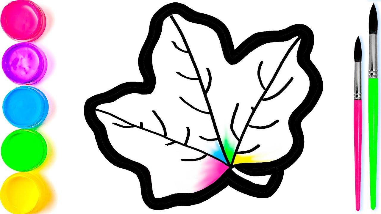 Pelajari Menggambar Dan Mewarnai Daun Maple Pelangi Untuk Anak Anak