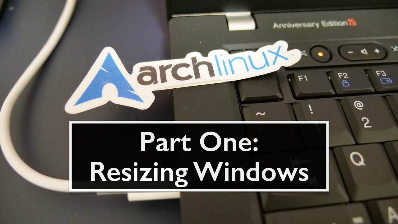 Arch install on a T25 Part 1: Windows 10 resize