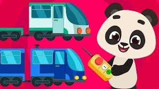 Baby Panda - Repairs Train | Cartoon Little Panda Train Driver |  For Kids