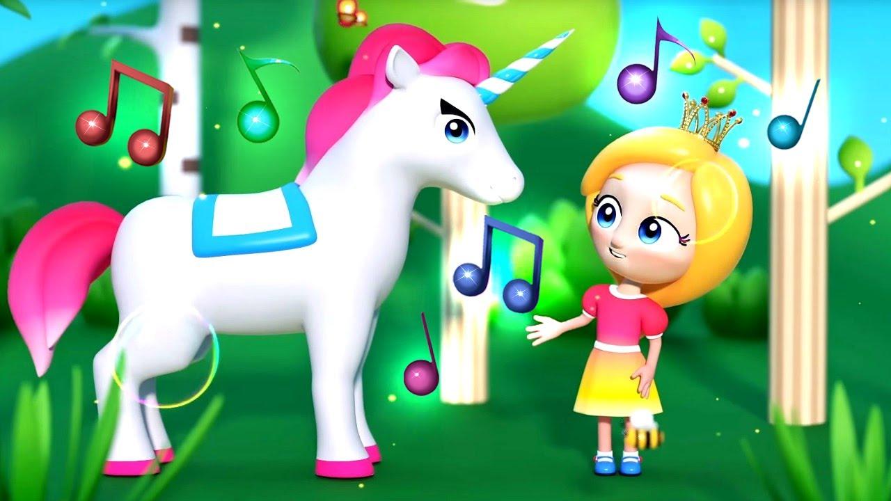 Веселые детские песенки - Единорог - Музыкальные мультики Сина и Ло