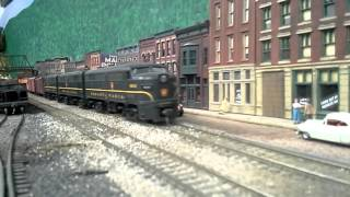 Pennsylvania Railroad freight on the PRR Williamsport Division Railroad Cedar Rapids Iowa April 2013