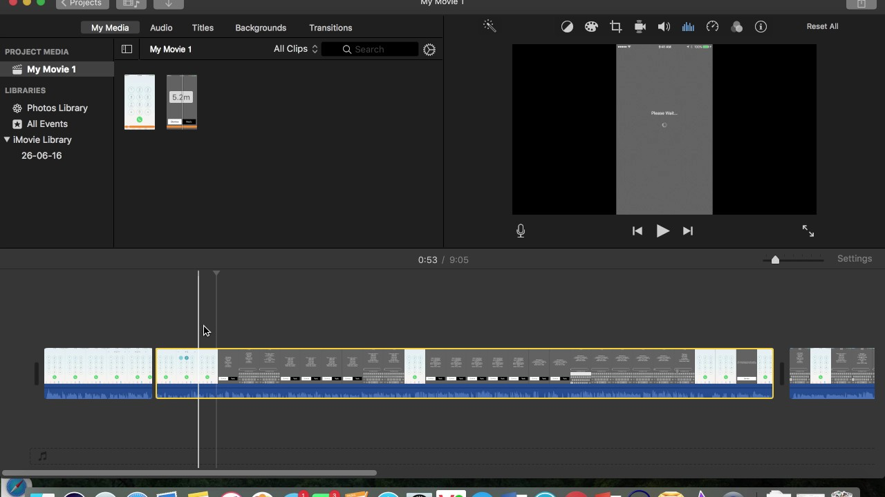 Split Trim Cut a part/section of video in iMovie 10