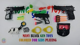 Many Black Gun Toys Colored For Kids Shooting Playing - Toys For Kids And Son
