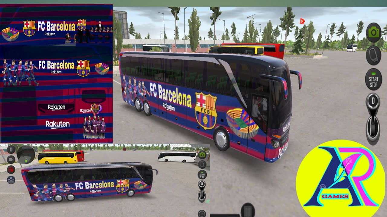 how to make fc barcelona bus skin in bus simulator ultimate by ar games youtube how to make fc barcelona bus skin in