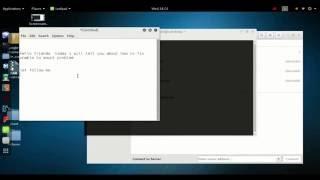 how to fix unmount problem in linux kali, ubuntu, backtrack