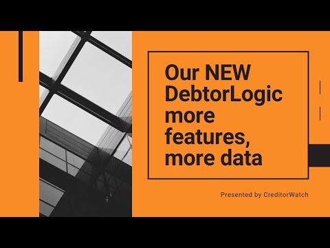 NEW DebtorLogic, more features, more data