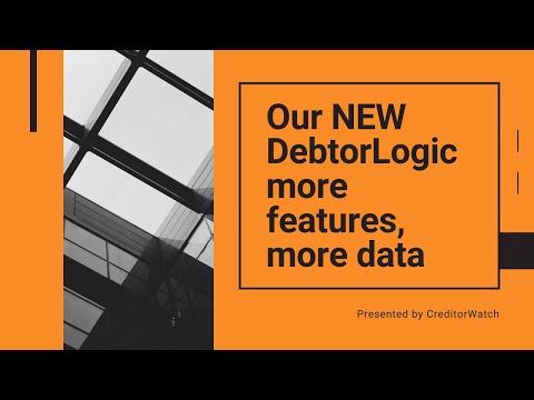 NEW DebtorLogic, more features, more data