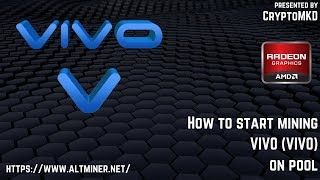 How to start mining VIVO (VIVO) on pool
