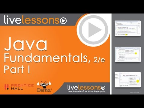 Java Fundamentals Video Tutorials by Paul Deitel