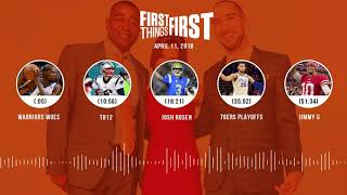 First Things First audio podcast(4.11.18) Cris Carter, Nick Wright, Jenna Wolfe | FIRST THINGS FIRST thumbnail