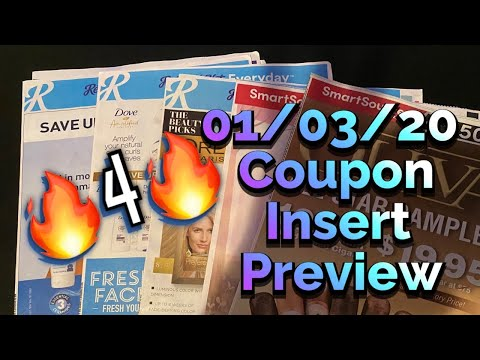 What coupons are we getting? 01/03/20 Coupon Insert Preview